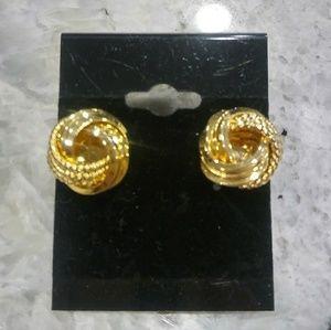 🎀Gold swirl earrings